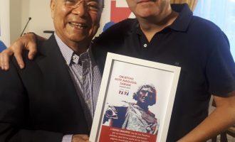 Rafael Basurto junto al empresario Xavier Rodriguez (Bilbao)